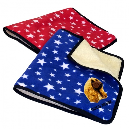 Afghan Hound Personalised Luxury Fleece Dog Blankets Bright Stars Design