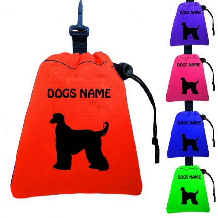 Afghan Hound Personalised Training Treat Bags - Clips To Dog Lead