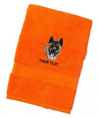 Akita Inu Personalised Dog Towels Luxury Range