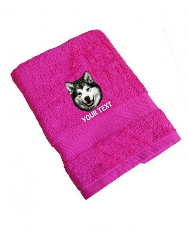 Alaskan Malamute Personalised Dog Towels Standard Range