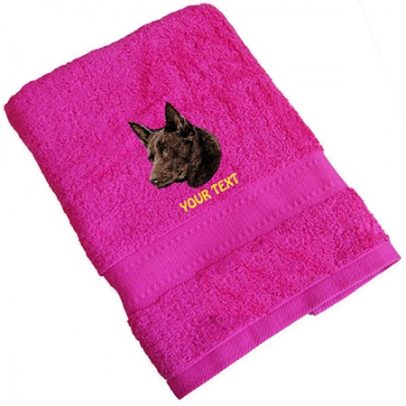 Australian Kelpie Personalised Dog Towels Standard Range
