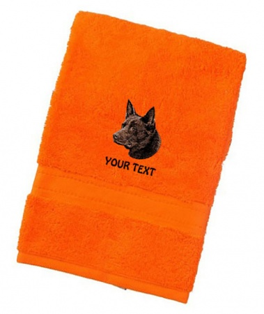 Australian Kelpie Personalised Dog Towels Luxury Range  - Face Cloth