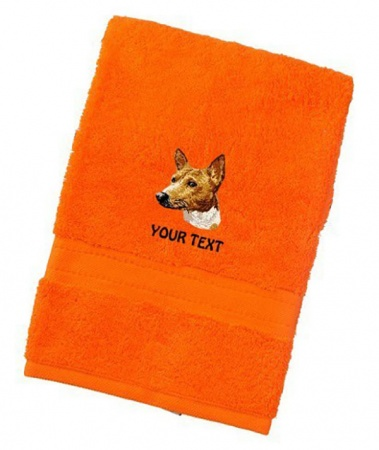Basenji Personalised Dog Towels Luxury Range