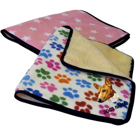 Basenji Personalised Luxury Fleece Dog Blankets Designer Prints