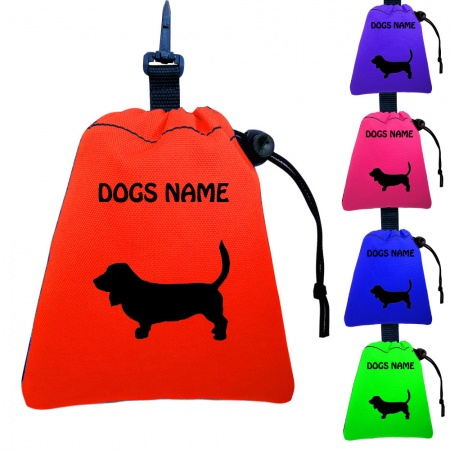 Basset Hound Personalised Training Treat Bags - Clips To Dog Lead
