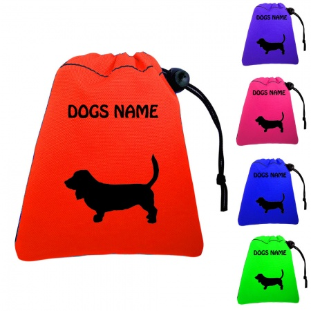 Basset Hound Personalised Dog Training Treat Bags - Pocket Version