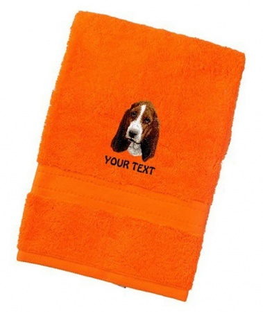 Basset Hound Personalised Dog Towels Luxury Range