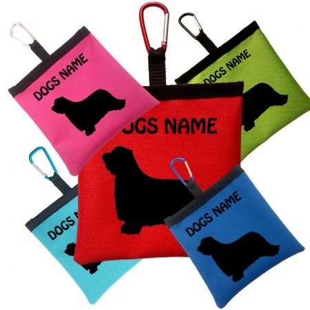 Bearded Collie Personalised Dog Training Treat Bag