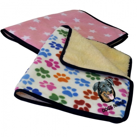 Beauceron Personalised Luxury Fleece Dog Blankets Designer Prints