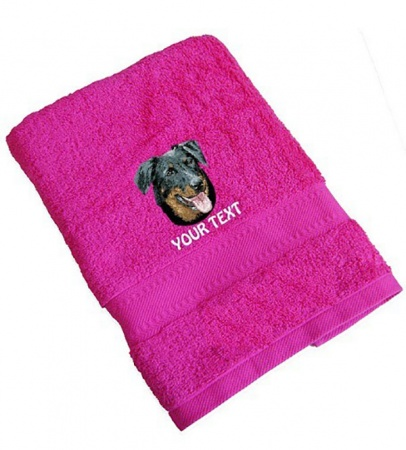 Beauceron Personalised Dog Towels Standard Range