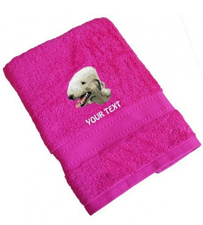 Bedlington Terrier Personalised Dog Towels Standard Range
