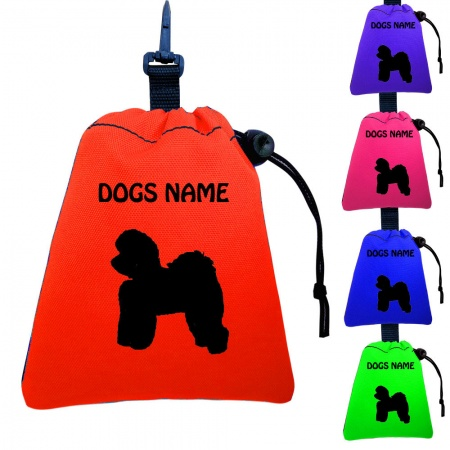 Bichon Frise Personalised Training Treat Bags - Clips To Dog Lead