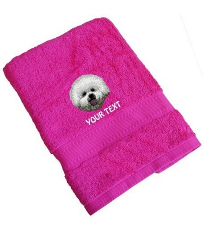 Bichon Frise Personalised Dog Towels Standard Range