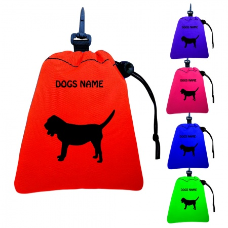 Bloodhound Personalised Training Treat Bags - Clips To Dog Lead