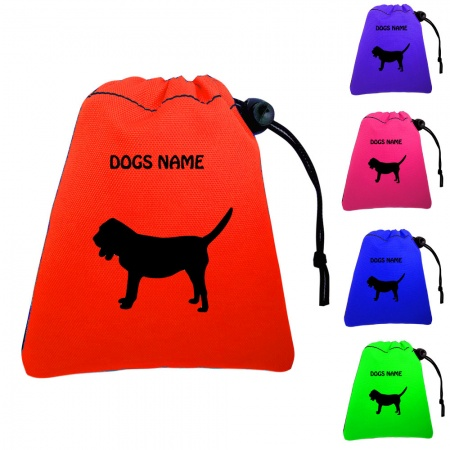 Bloodhound Personalised Dog Training Treat Bags - Pocket Version