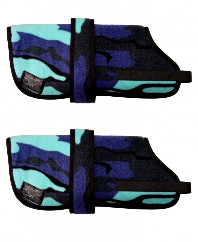 Personalised Fleece Dog Coats - Blue Camo