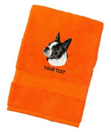 Boston Terrier Personalised Dog Towels Luxury Range - Face Cloth