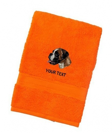 Boxer Personalised Dog Towels Luxury Range