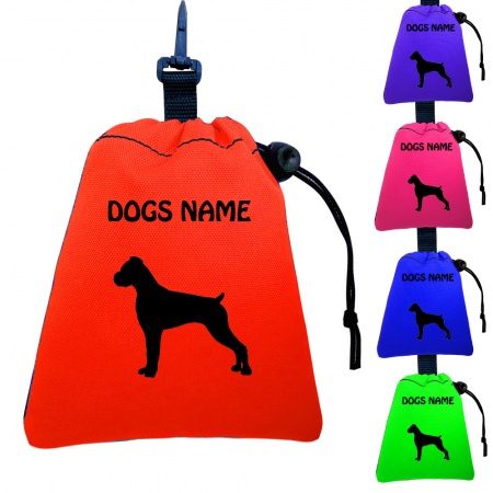 Boxer Dog Personalised Training Treat Bags - Clips To Dog Lead