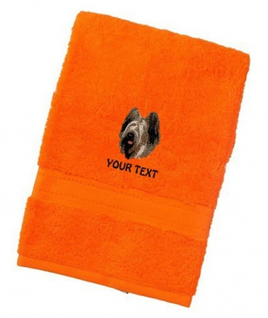 Briard Personalised Dog Towels Luxury Range