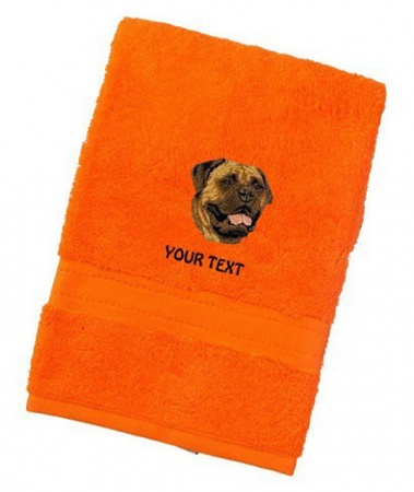Bullmastiff Personalised Dog Towels Luxury Range - Face Cloth
