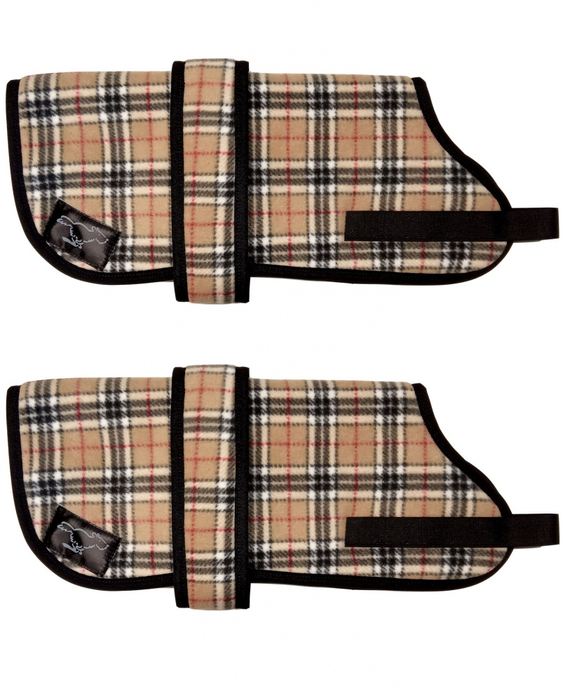 Personalised Fleece Dog Coats - Burberry