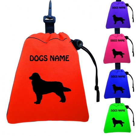Bernese Mountain Dog Personalised Training Treat Bags - Clips To Dog Lead