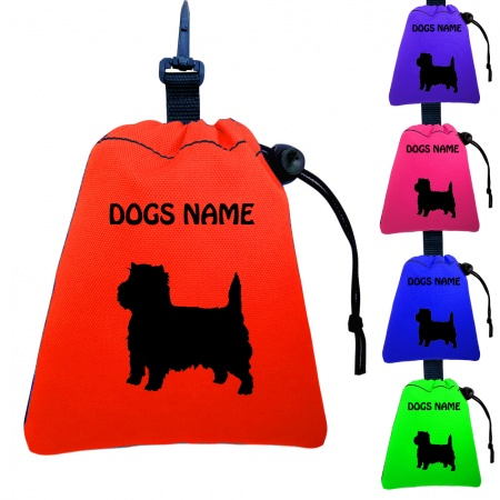 Cairn Terrier Personalised Training Treat Bags - Clips To Dog Lead