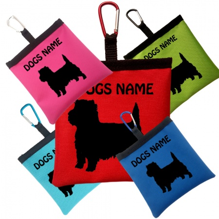 Cairn Terrier Personalised Pooh Bag Holder With Carabiner