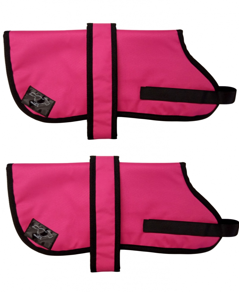 Border Collie Personalised Waterproof Dog Coats | Cerise Pink
