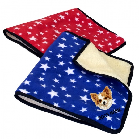 Chihuahua Personalised Luxury Fleece Dog Blankets Bright Stars Design