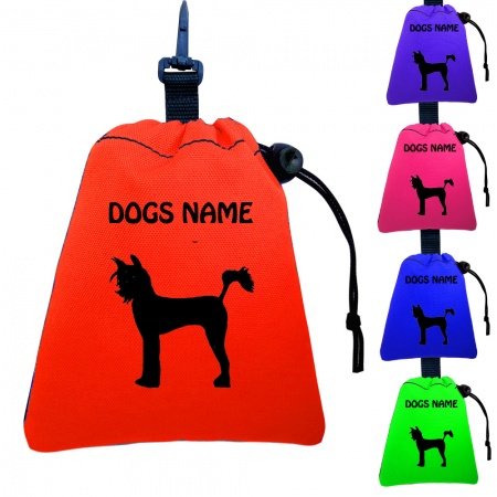 Chinese Crested Dog Personalised Training Treat Bags - Clips To Dog Lead