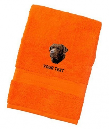 Labrador Retriever (Chocolate) Personalised Dog Towels Luxury Range