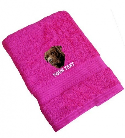 Labrador Retriever (Chocolate) Personalised Dog Towels Standard Range