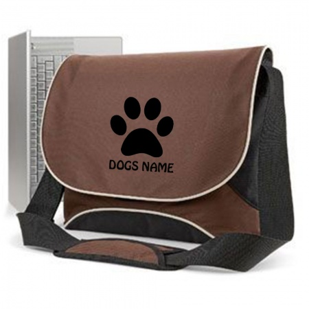 Pawprint Lap Top Messenger Bag