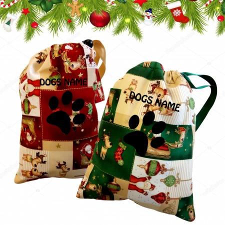 Personalised Christmas Santa Sack For Dogs