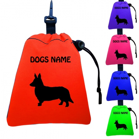 Corgi Personalised Training Treat Bags - Clips To Dog Lead