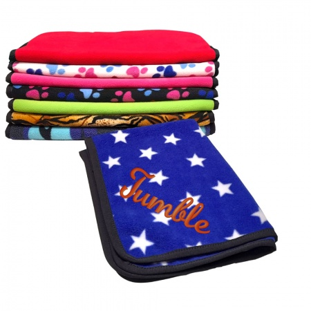 Personalised Fleece Dog Blankets With Dogs Name