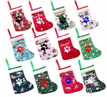Personalised Christmas Dog Stockings