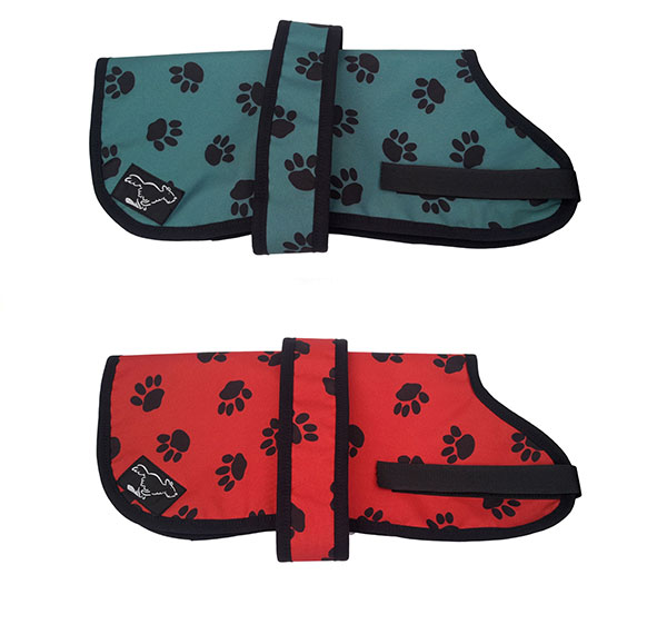Fox Terrier Personalised Waterproof Dog Coats | Paw Print Design| Sherpa Fleece Lining