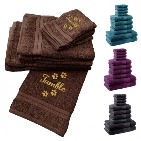 Dog Towels Personalised With Dogs Name - Hand Towel