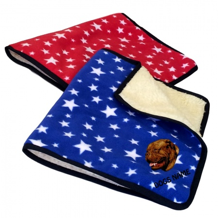 Dogue de Bordeaux Personalised Luxury Fleece Dog Blankets Bright Stars Design