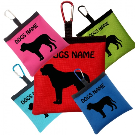 English Mastiff Personalised Pooh Bag Holder With Carabiner