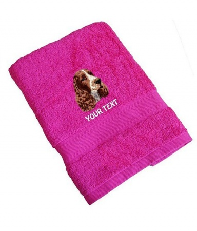 English Springer Spaniel Personalised Dog Towels Standard Range