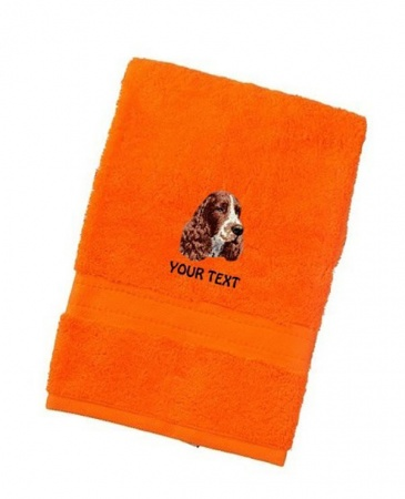 English Springer Spaniel Personalised Dog Towels Luxury Range