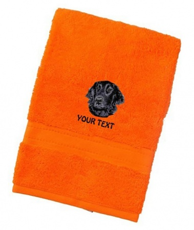 Flat Coated Retriever Personalised Dog Towels Luxury Range
