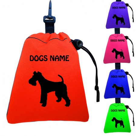 Fox Terrier Personalised Training Treat Bags - Clips To Dog Lead
