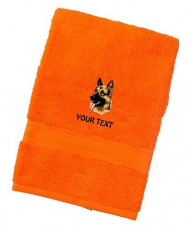 German Shepherd Dog Personalised Dog Towels Luxury Range