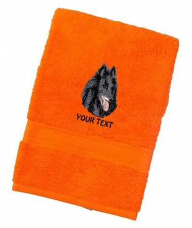 Groenendael Personalised Dog Towels Luxury Range
