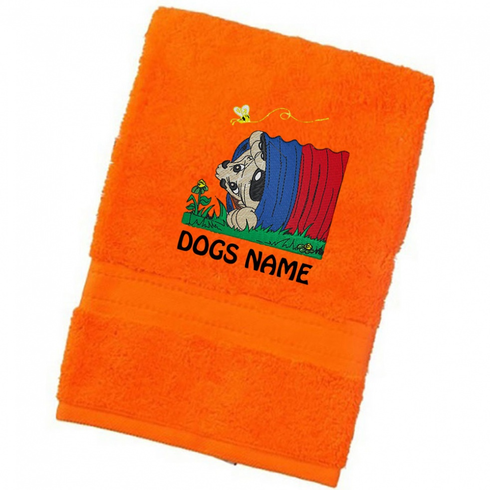 Personalised Dog Towels | Groovydog Designs | Luxury Range - Face Cloth